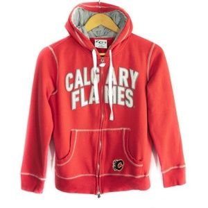 ✨3/$25✨Calgary Flames Youth Red Zip Up Hoodie